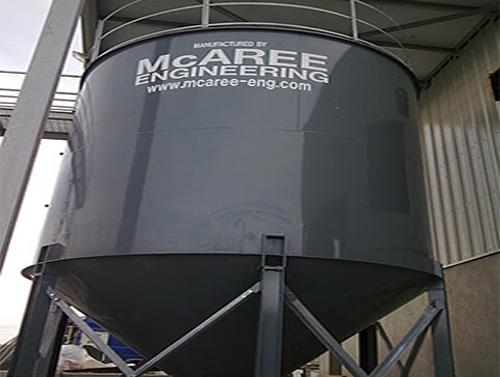 Waste Water Dry Sludge Silo - V-Mac Silos - McAree Engineering Ltd